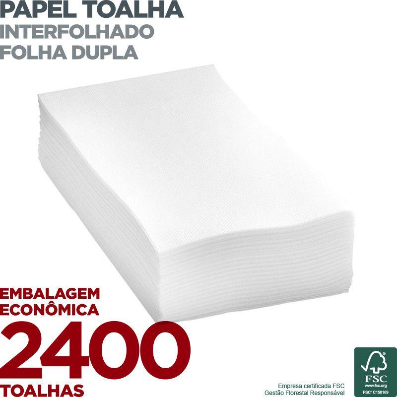 Papel Toalha Interfolha - Folha Dupla - 2400 Toalhas  - Scalashop