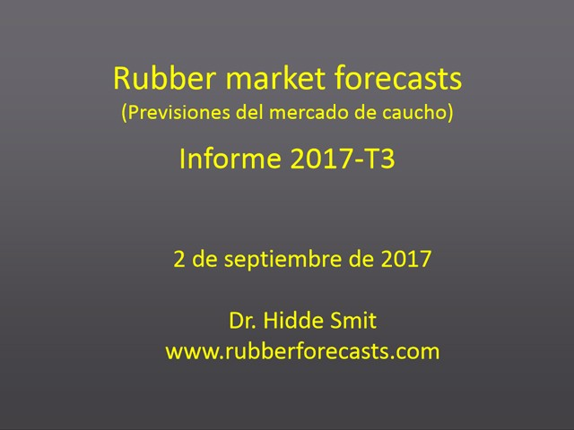 Rubber market forecasts - Español