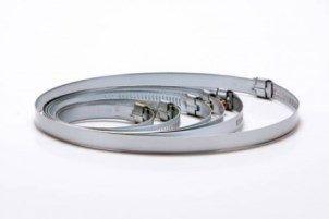 12 Pçs Abraçadeira Met. P/duto Semi-flexivel De 134 Á 160mm  - Nova Exaustores