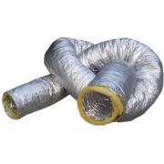 3 Pçs Duto Flexivel Alum. Isolado (6mts) Diam. 4 Pol.-109mm