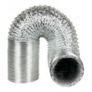 Duto Flexivel Aluminizado 125mm c/10m + 2 Anel + 2 Abraç.