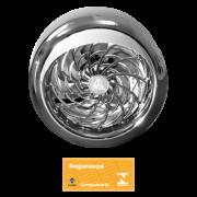 Exaustor Axial Residencial 25cm Luxo Cromado Bivolt Venti-Delta