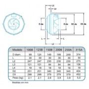 Exaustor Tipo Centrifugo InLine Mod: AXC250A - 220V
