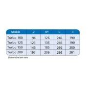 Exaustor Turbo-200 c/2 Grelha Ventidec-200 c/20m Duto Flex.