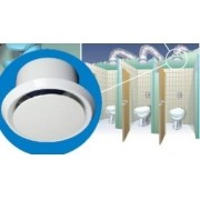 Grelha de Acabamento Interno p/Exaustor de Banheiro Mod: Ventidec-100
