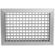 Grelha Dupla Deflexão c/Registro em Aluminio Anod. Fosco