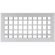 Grelha Dupla Deflexão c/Registro em Aluminio C/Pint. Eletrost. Branca