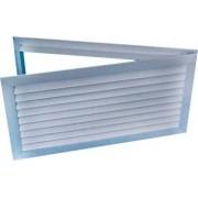Grelha para Porta c/Dupla Moldura Indev. em Aluminio Anod. Fosco
