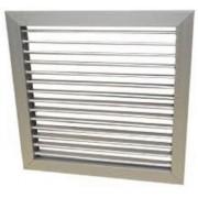 Grelha Simples Deflexão c/Registro em Aluminio Anod. Fosco