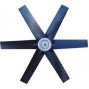 Hélice P/Exaustor Axial Diam.  370 mm c/6 Pás em Nylon Preto 40° c/Nucleo em Aluminio