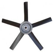 Hélice P/Exaustor Axial Diam.  400 mm c/5 Pás em Nylon Preto 35° c/Nucleo em Aluminio