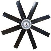 Hélice para Exaustor Diam. 400mm c/8 Pás em Nylon Preto 45°