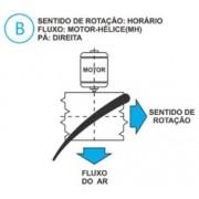 Hélice P/Exaustor Axial Diam.  470 mm c/8 Pás em Nylon Preto 45° c/Nucleo em Aluminio