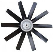 Hélice P/Exaustor Axial Diam.  570 mm c/10 Pás em Nylon Preto 45° c/Nucleo em Aluminio