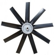 Hélice P/Exaustor Axial Diam.  695 mm c/9 Pás em Nylon Preto 45° c/Nucleo em Aluminio