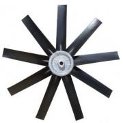 Hélice P/Exaustor Axial Diam.  870 mm c/9 Pás em Nylon Preto 25° c/Nucleo em Aluminio