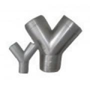 "Kit Duto Semi-Flex. 1,5 + 5m + Ramal ""Y'' Diam. 80/150mm"