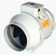 Kit Exaustor Turbo-100 + Grelha Int/ext. + 6mts Duto Flex.