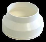 Luva de Redução p/Exaustor de Banheiro Plastica 5 pol. x 4 pol.
