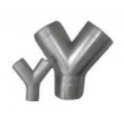Ramal em ''Y'' 45° p/Duto em Chapa Galvanizada