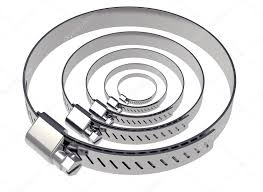 2 Abraçadeira Metalica Para Duto Semi-flexivel P/ 150mm  - Nova Exaustores