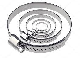 2 Abraçadeira Metalica Para Duto Semi-flexivel P/ 200mm  - Nova Exaustores