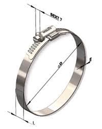 4 Pçs-abraçadeira Metalica P/duto Semi-flexivel 220 á 610mm  - Nova Exaustores