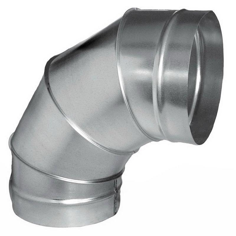 Adaptador p/Churr. Pré-Mold. 200mm + 2 Curvas 90º + Chapéu  - Nova Exaustores