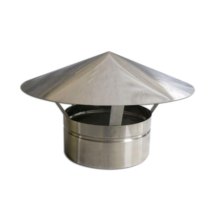 Adaptador p/Churr. Pré-Mold. e Duto Alum. 250mm 6m C/Chapéu  - Nova Exaustores