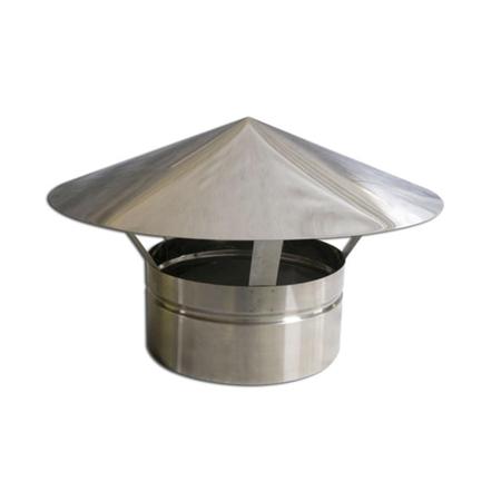 Adaptador p/Churr. Pré-Mold. e Duto Galv. 150mm-3m C/Chapéu  - Nova Exaustores