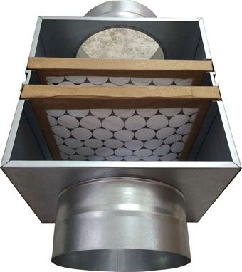Caixa de Filtragem em Chapa Galvanizada G4 + M5  - Nova Exaustores