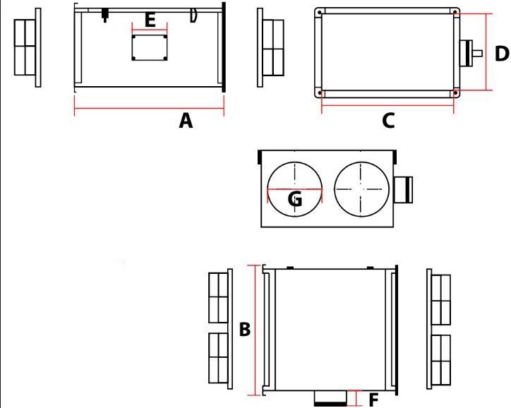 Caixa de Ventilação p/forro CVM 5000  - Nova Exaustores