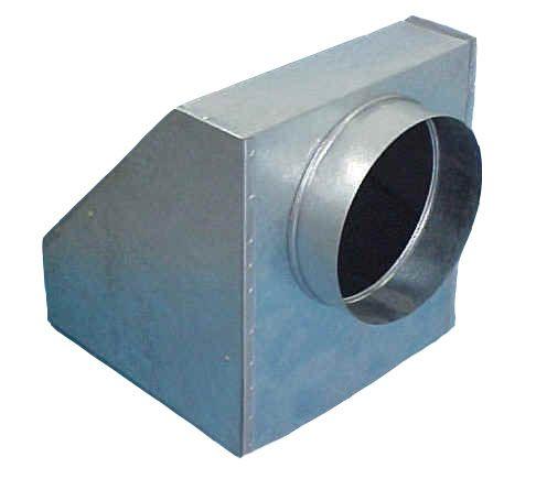 Caixa Plenum c/filtro Medida: 600 x 600 x diam. 400mm  - Nova Exaustores