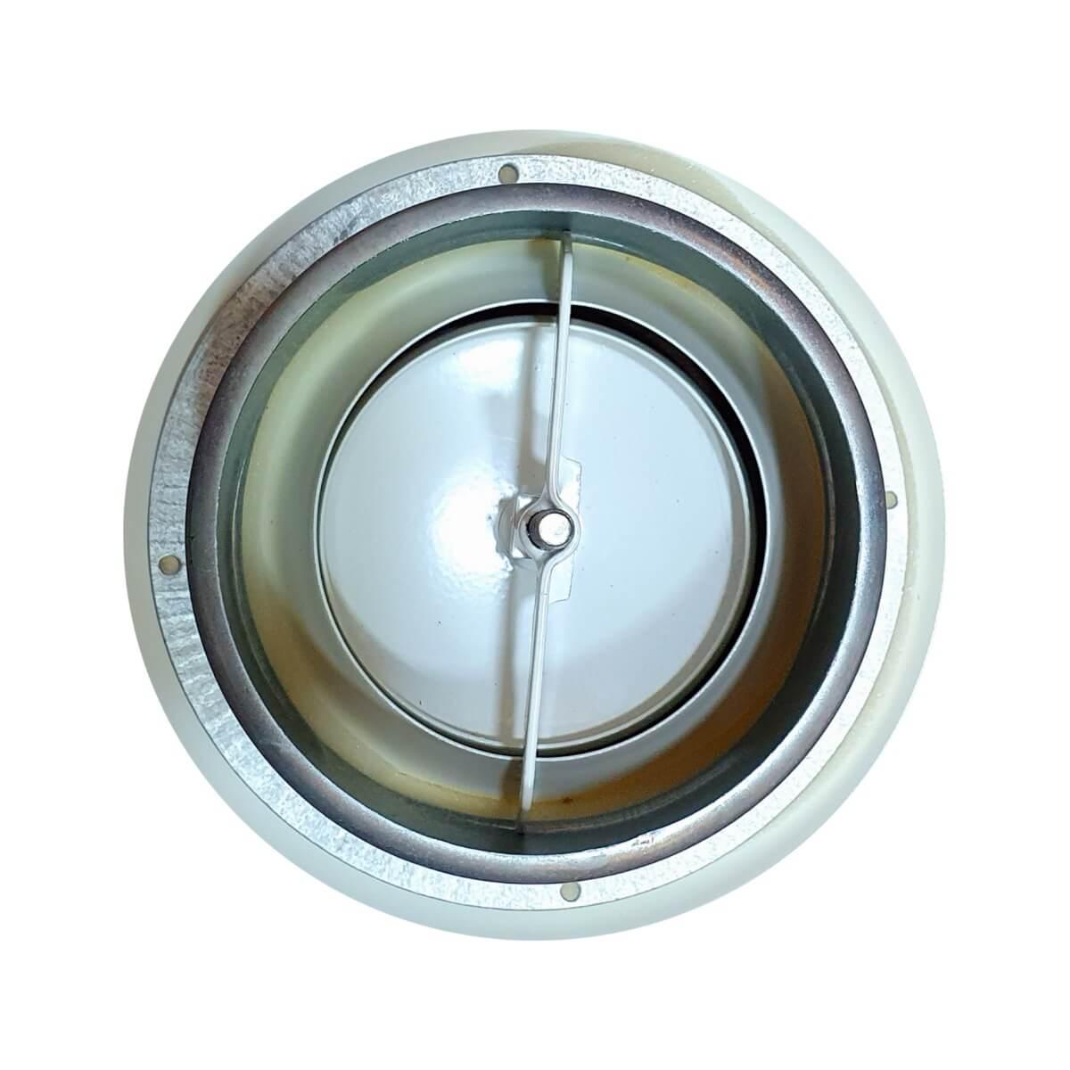 Difusor Redondo Regulavel Metalica Mod: BOC-125 S&P  - Nova Exaustores