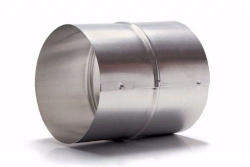 Duto De Alum. 126mm (3m) + 3 Abraçad. C/ Luva De União  - Nova Exaustores