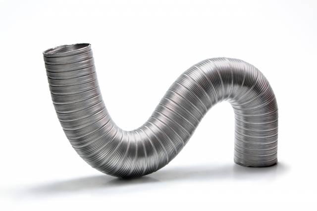 Duto de Alum. Semi-Flexivel 120mm -1,5m + Luva + Abraçadeira  - Nova Exaustores