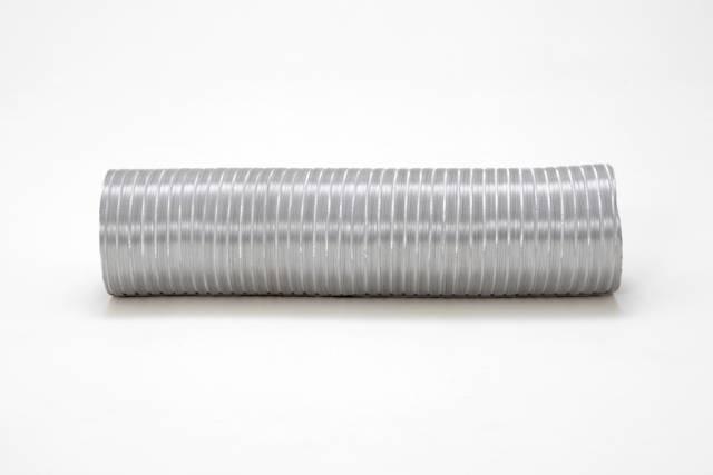 Duto de Aluminio Semi-Flexivel (Rolo c/5 metros) + 2 Abraçadeiras  - Nova Exaustores