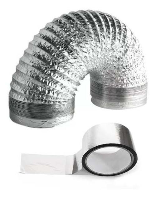 Duto Flexivel Alum. 300mm - 10m + Rolo De Fita + 2 Luva  - Nova Exaustores