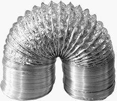 Duto Flexivel Alum. (c/4mts) 12 Pol. - 300mm + 4 Abraçadeira  - Nova Exaustores