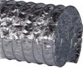 Duto Flexivel Aluminizado Reforçado c/Fibra de Vidro (Rl. c/7,62 mts)  - Nova Exaustores