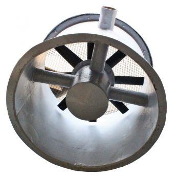 Exaustor Axial Encapsulado em Fibra de Vidro Trifásico Diam. 600 mm Mod: EAEFV-600-T4  - Nova Exaustores