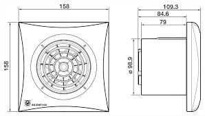 Exaustor Banh. Silent-100CRZ - 220V + 3m Duto + Grelha  - Nova Exaustores