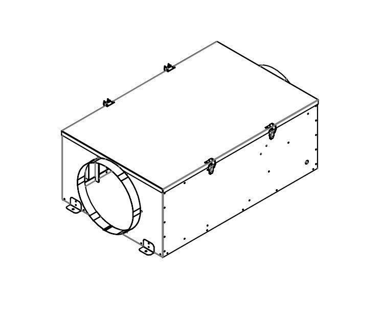 Exaustor e Insuflador de ar com Filtro FH125 (G4+F8)  - Nova Exaustores