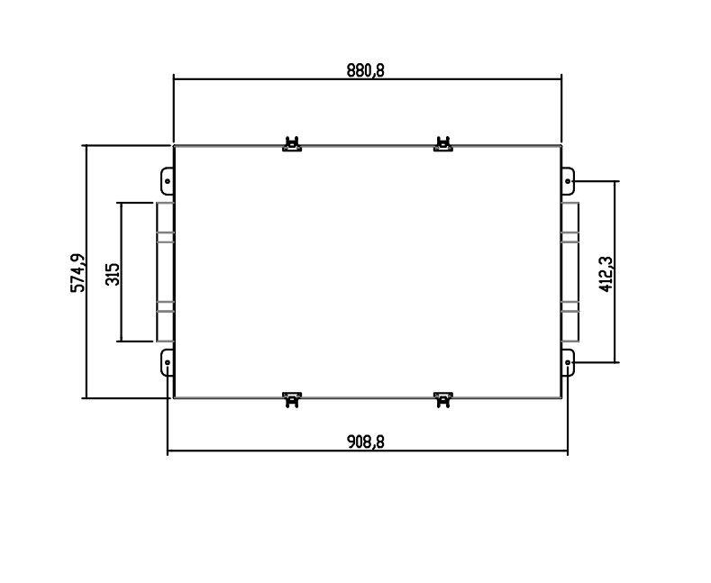 Exaustor e Insuflador de ar com Filtro FH315 (G4+M5)  - Nova Exaustores