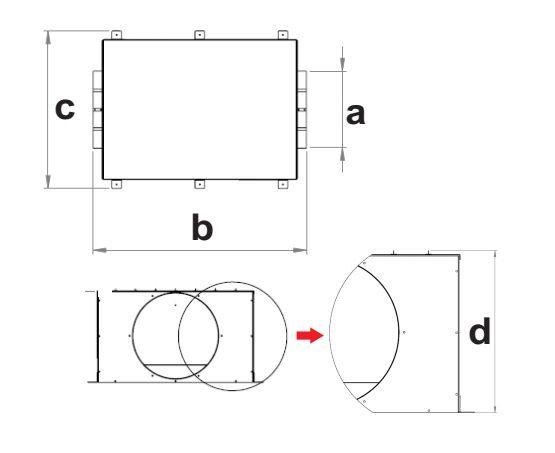 Exaustor e Insuflador de ar com Filtro FH355 (G4+M5)  - Nova Exaustores