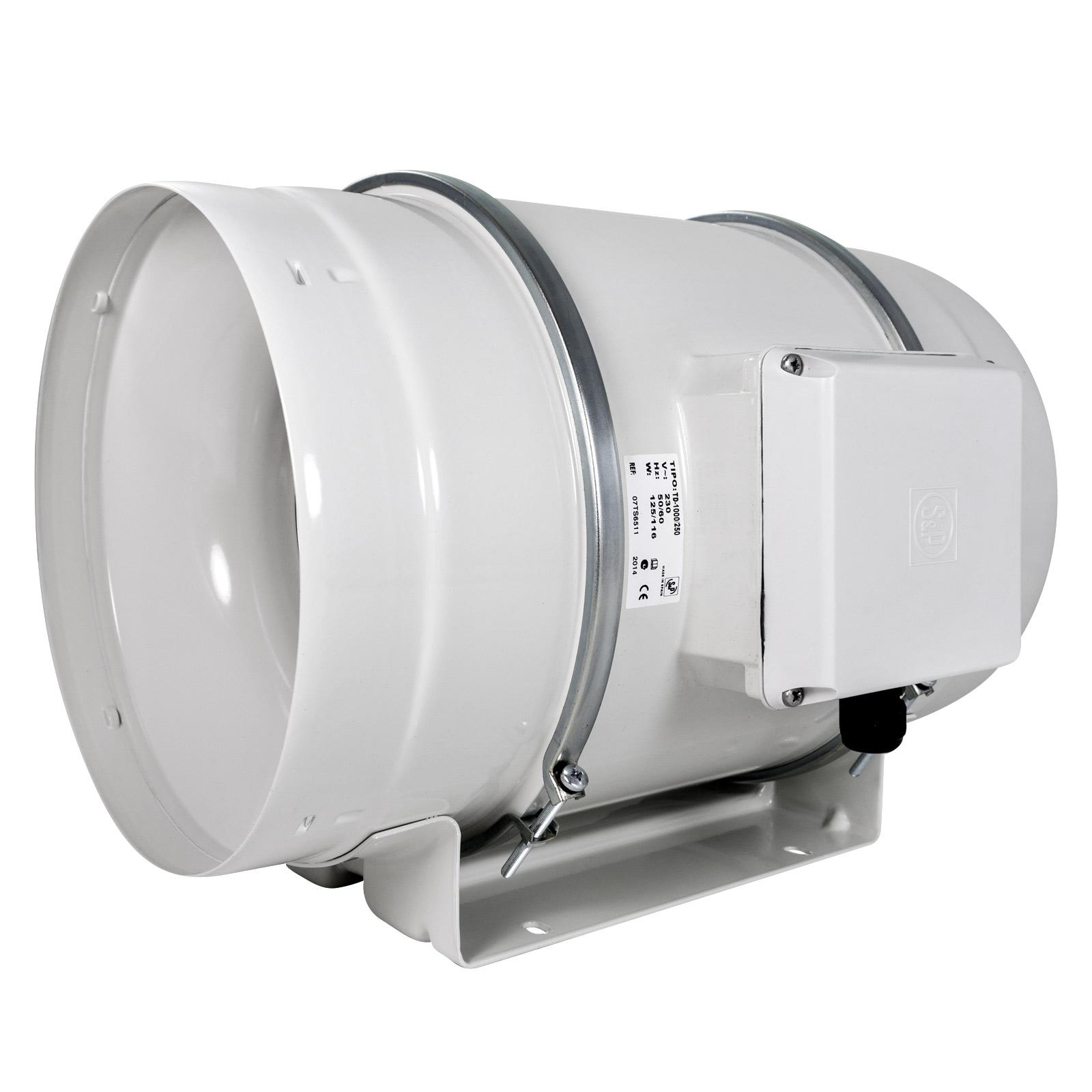 Exaustor p/Banheiro Helicocentrifugo InLine Mod: TD1300/250 S&P  - Nova Exaustores