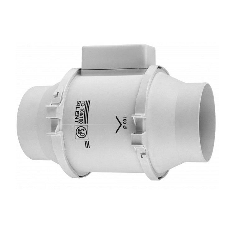Exaustor p/Banheiro Helicocentrifugo InLine Mod: TD160/100 N Silent S&P  - Nova Exaustores