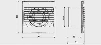 Exaustor para Banheiro Mod: DECOR100C S&P  - Nova Exaustores