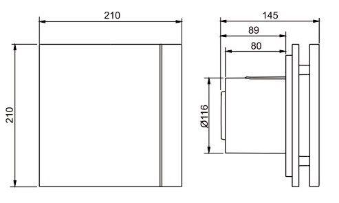 Exaustor para Banheiro Mod: Silent-200CRZ Design C/Timer S&P  - Nova Exaustores