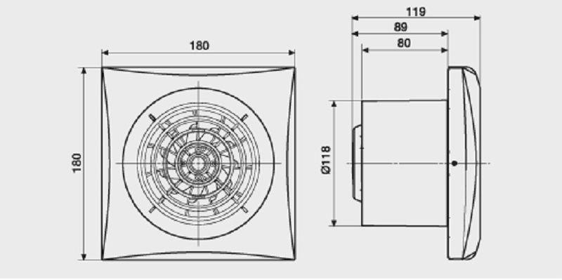 Exaustor para Banheiro Mod: Silent-200CZ S&P  - Nova Exaustores